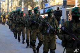"""في مشهد مميز.. مسير عسكري لـ""""نخبة القسام"""" وسط قطاع غزة"""
