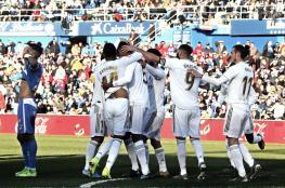 """ريال مدريد ينتزع الصدارة """"مؤقتا"""" بثلاثية في شباك خيتافي"""