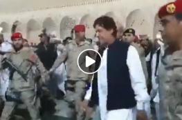 هذا ما حصل مع رئيس وزراء باكستان في الحرم المكي