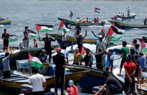 إنطلاق أول رحلة بحرية من ميناء غزة للعالم الخارجي