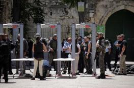 مسؤول إسرائيلي: قرار إزالة البوابات الالكترونية متأخر