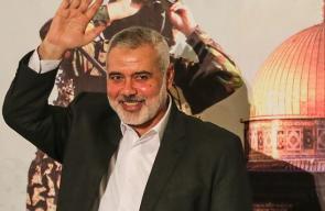 رئيس المكتب السياسي لحركة حماس اسماعيل هنية يلقي خطابه الأول منذ توليه رئاسة حماس