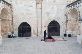 دائرة الأوقاف القدس تؤكد ضرورة إعادة تركيب أبواب باب الرحمة