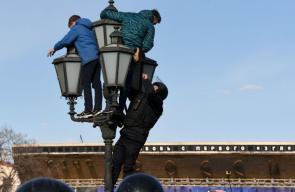 الشرطة الروسية تعتقل العشرات بحجة مشاركتهم في تظاهرة غير مرخص بها