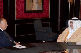 """البحرين تبحث مع مصر إحياء عملية السلام مع """"إسرائيل"""""""