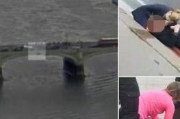 أول فيديو لهجوم لندن.. شاهد كيف دهس المنفذ المارة وأسقط امرأة من أعلى الجسر