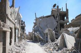 قصف مخيم درعا بالبراميل المتفجرة