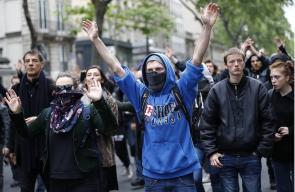 مظاهرات في العاصمة الفرنسية باريس ضد خطط الرئيس المنتخب إيمانويل ماكرون