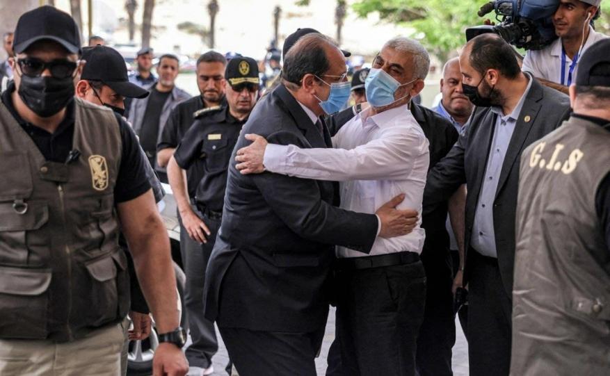 عباس كامل يحيى السنوار غزة (3)