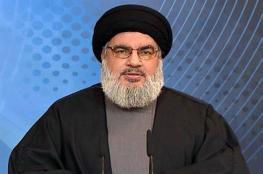 نصر الله يستهجن إقامة الدول العربية علاقات مع الاحتلال