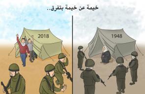 كاريكاتير مسيرة العودة الكبرى