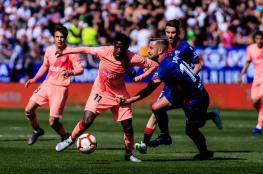 """في غياب ميسي.. برشلونة يسقط في فخ هويسكا بـ""""الليغا"""""""