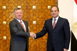 السيسي وملك الأردن يؤكدان على ضرورة إقامة دولة فلسطينية