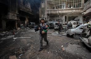 عشرات الشهداء في مدينة دوما بالغوطة الشرقية بفعل القصف المتواصل