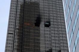 """سيارة تقتحم مدخل برج """"ترامب بلازا"""" في نيويورك"""