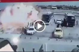 أوقع 16 قتيل.. شاهد لحظة انفجار سيارة مفخخة في تكريت