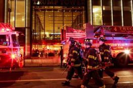 قتيل وخمسة جرحى جراء حريق كبير في برج ترامب بنيويورك