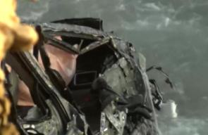 مطاردة بوليسية تنتهي بغرق سيارة المشتبه به في المحيط الهادي