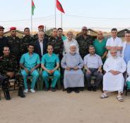 نواب محافظة غزة يزورون المستشفى الميداني المغربي _(1)_