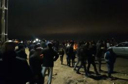 مواطنون يرابطون فوق جبل العرمة جنوب نابلس بعد تهديدات المستوطنين