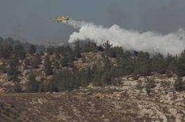 """إصابة 4 مستوطنين وإخلاء مستوطنة """"بين عين"""" بسبب حرائق كبيرة"""
