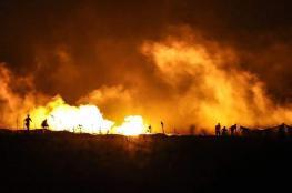 """""""شاهد"""" فعاليات """"الإرباك الليلي"""" على أشدها على طول حدود قطاع غزة"""