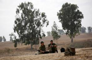انتشار جنود الاحتلال على حدود قطاع غزة