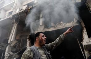 مشاهد من القصف على مدينة دوما في الغوطة الشرقية الذي خلف شهداء وجرحى