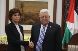 عباس يستقبل وفدا إسرائيليا بمقر المقاطعة: متمسكون بحل الدولتين لشعبين