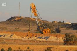 """""""والا"""": تقدم كبير في بناء السور الأرضي الضخم حول قطاع غزة"""