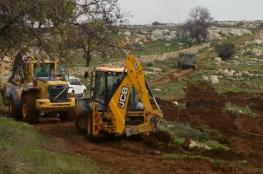 الاحتلال يقوم بأعمال تنقيب في أراضي كيسان شرق بيت لحم