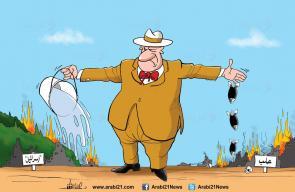كاريكاتير د. علاء اللقطة، فرق بين دعم اسرائيل وحرق حلب !