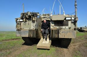 وزير الحرب الإسرائيلي أفيغدور ليبرمان يجري جولة للإطلاع على تدريبات الاحتلال شمال فلسطين المحتلة