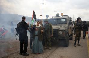 الاحتلال يقمع مواطنون خرجوا رفضًا لمشروع استيطانـي جنوب نابلس