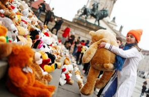أطفال في العاصمة الالمانية برلين يعبرون عن تضامنهم مع أطفال سوريا