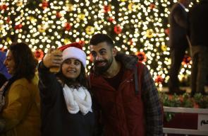 إضاءة شجرة عيد الميلاد في ساحة كنيسة المهد ببيت لحم