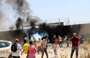 قوات الاحتلال تقمع مسيرة نعلين السلمية الأسبوعية غرب رام الله