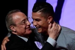 في أول لقاء عقب شهور من الخلافات.. هكذا قابل رونالدو رئيس ريال مدريد