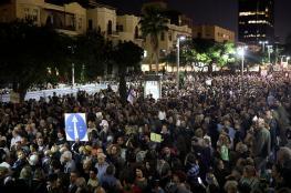 """""""مسيرة العار"""" .. آلاف الإسرائيليون يتظاهرون للمطالبة بتسريع التحقيقات مع نتنياهو"""