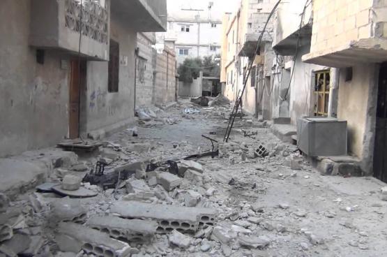 تعرض مخيم درعا للاجئين الفلسطينيين للقصف بقذائف الهاون