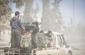 الجيش الحر يواصل معركته مع تنظيم الدولة في مدينة الباب شمالي سوريا