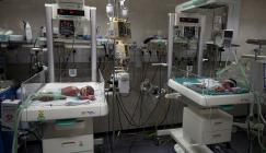 من داخل مشفى الشفاء بغزة