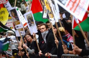 متضامنون مع فلسطين يحتجون على مظاهرة للصهاينة في نيويورك