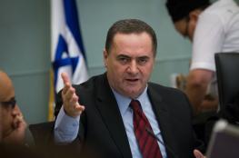 كاتس: إسرائيل لا تتلقى الأوامر من تركيا والإمبراطورية العثمانية من الماضي