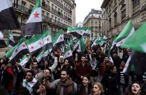 إحياء الذكرى السادسة للثورة السورية في العاصمة الفرنسة باريس