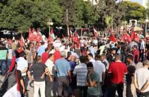 وقفة حاشدة بغزة احتجاجاً على استمرار العقوبات