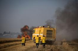 اندلاع 3 حرائق في أشكول بفعل البالونات الحارقة