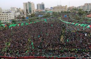مئات الآلاف يشاركون في مهرجان ذكرى انطلاقة حماس الـ31