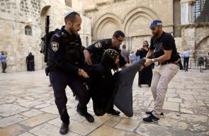 الاحتلال يقمع وقفة احتجاجية للأقباط بالقدس