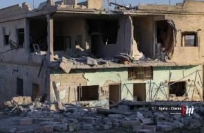 دمار كبير أصاب منازل المدنيين جراء قصف الطيران الروسي للأحياء المحررة في مدينة درعا